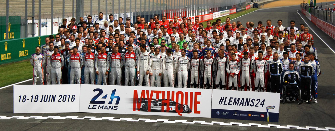 About the FIA WEC – Group photograph for the 2016 24 Hours of Le Mans