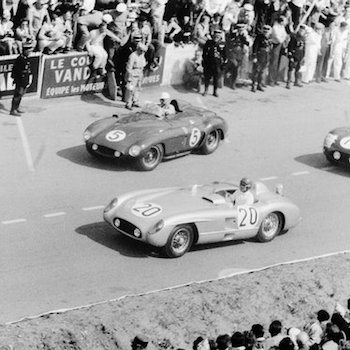 Legends of Le Mans – Pierre Levegh driving a Mercedes at Le Mans in the 1950s