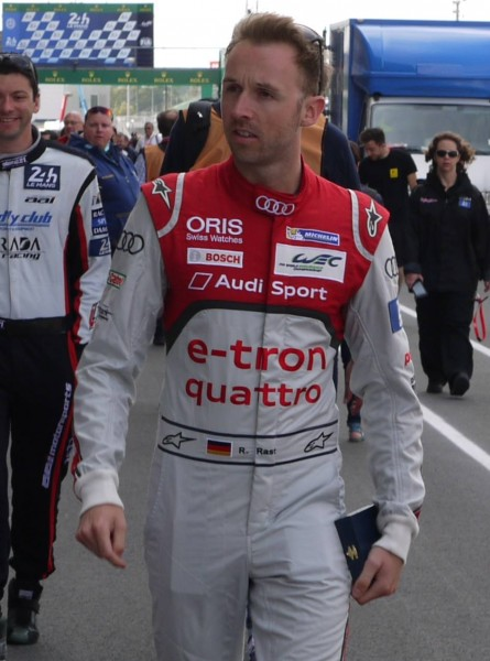 René Rast in his first Le Mans race for Audi in 2015