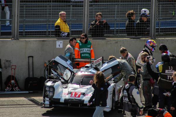 The eventual LMP1 Champion (17 Porsche) started on pole last year
