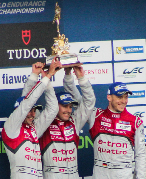 Lotterer, Fassler and Treluyer won the race and therefore the Tourist Trophy, the oldest trophy still in circulation, last year.