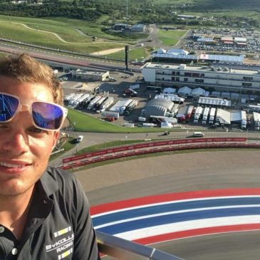 Driver's view: Simon Trummer in Austin