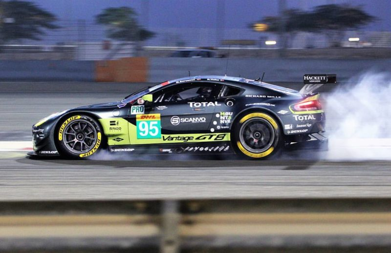 On the limit: In Bahrain, the 27-year-old Dane gave absolutely everything to secure the GTE Pro drivers' title.
