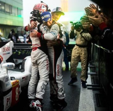 Toyota score 1-2 at rain-soaked home race