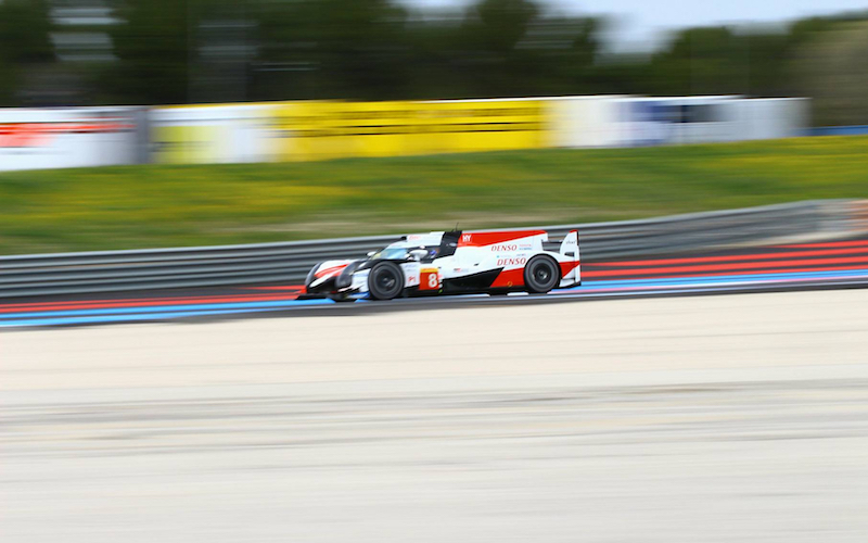 #8 Toyota TS0505 at the FIA WEC Prologue at Circuit Paul Ricard, France 6 April 2018