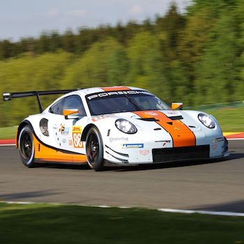 #86 Gulf Racing Porsche 911 RSR at the FIA WEC 6 Hours of Spa-Francorchamps 2018