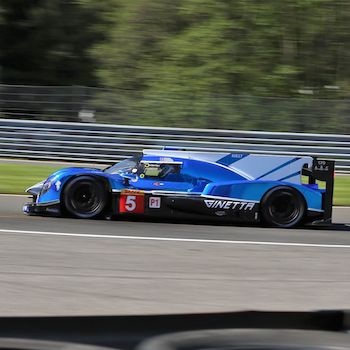 Both CEFC TRSM Racing cars out of Six Hours of Spa