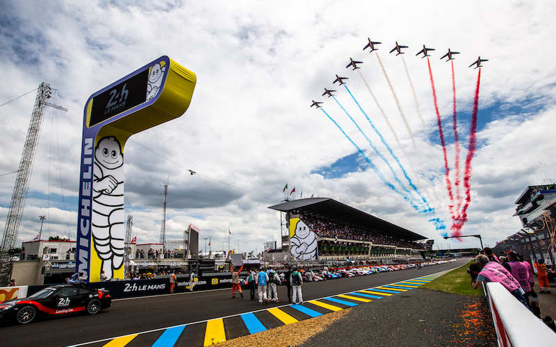 The start of the 24 Hours of Le Mans