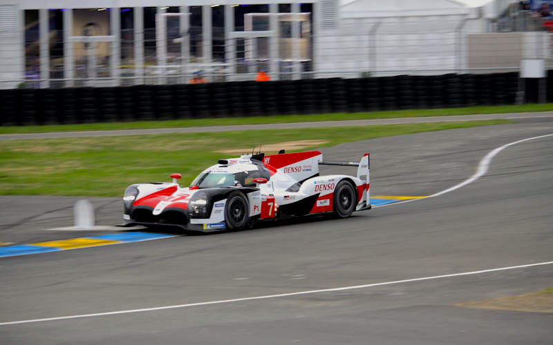 Toyota leads the LMP1 class in Le Mans