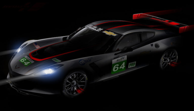 "Corvette C7.R in its special ""redline"" livery for the Six Hours of Shanghai"