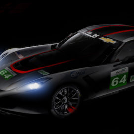 "Corvette C7.R in special ""redline"" livery for the Six Hours of Shanghai 2018"