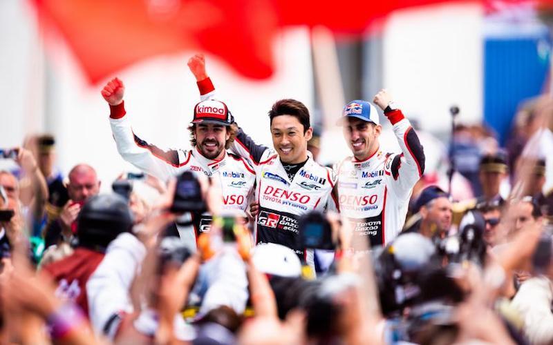 Fernando Alonso, Sébastien Buemi and Kazuki Nakajima extend championship lead after winning the 2018 24 Hours of Le Mans