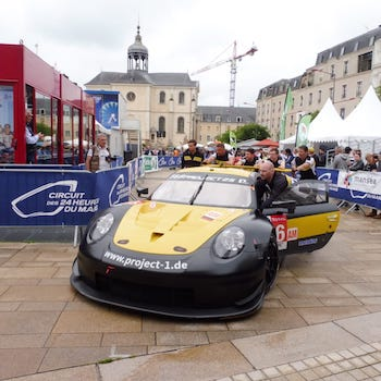 Project 1 Porsche 911 RSR at Scrutineering for the 2018 24 Hours of Le Mans