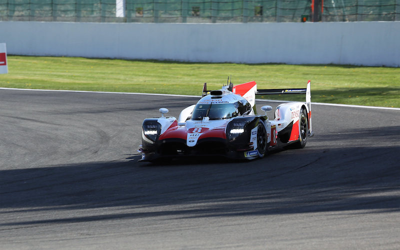 #8 Toyota TS050 Hybrid at the 6 Hours of Spa-Francorchamps in the 2018 FIA World Endurance Championship