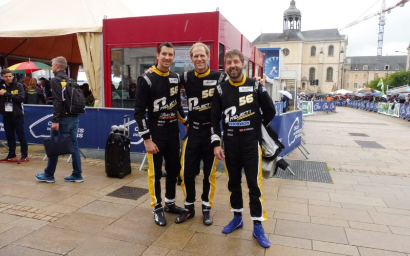 Scrutineering: Project 1 team at scrutineering for the 2018 24 Hours of Le Mans