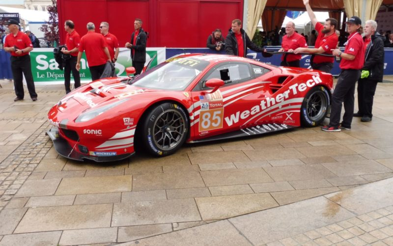 Scrutineering: #85 Ferrari 488 at scrutineering for the 2018 24 Hours of Le Mans