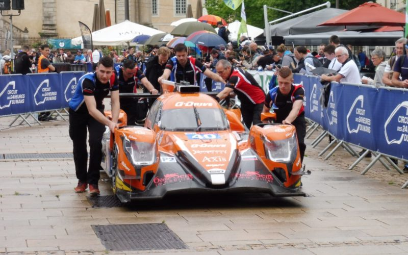 #40 G-Drive Racing Oreca at scrutineering for the 2018 24 Hours of Le Mans