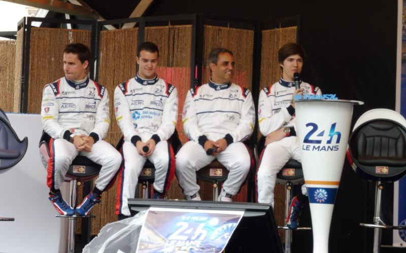 Scrutineering: United Autosports team at scrutineering for the 2018 24 Hours of Le Mans