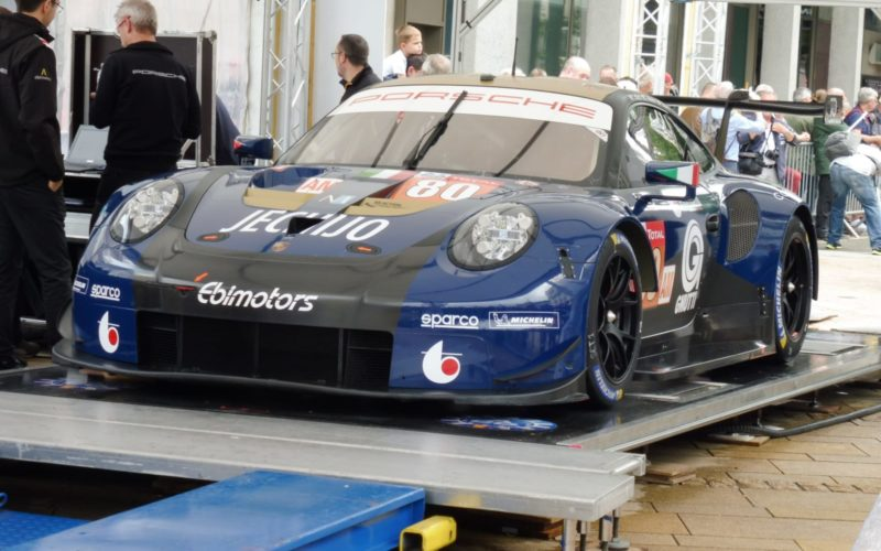 Scrutineering: #80 Porsche 911 RSR at scrutineering for the 2018 24 Hours of Le Mans