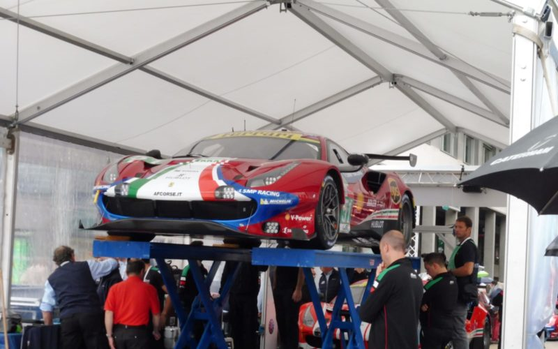 Scutineering: #51 Ferrari 488 at scrutineering for the 2018 24 Hours of Le Mans