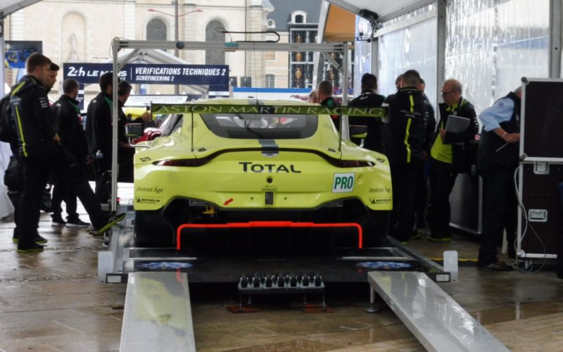 Scrutineering: #97 Aston Martin Vantage at scrutineering for the 2018 24 Hours of Le Mans