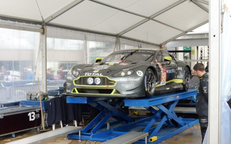 Scrutineering: #98 Aston Martin Vantage at scrutineering for the 2018 24 Hours of Le Mans
