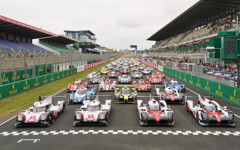 The grid of the 2017 Le Mans 24 Hours at the test day