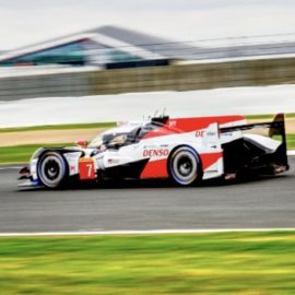 Toyota TS050 qualifying on pole for the 6 Hours of Silverstone