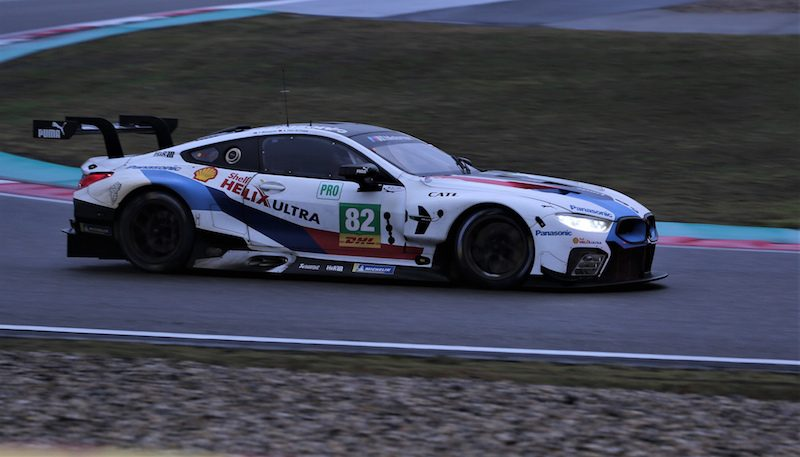 BMW M8 in GTE Pro at the 6 Hours of Shanghai in the 2018 FIA WEC