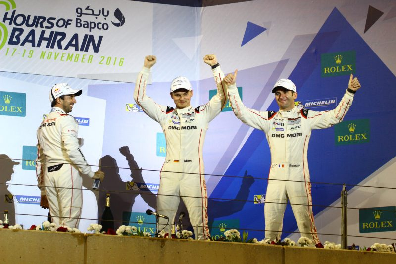 Champions: Neel Jani, Marc Lieb and Romain Dumas in 2016