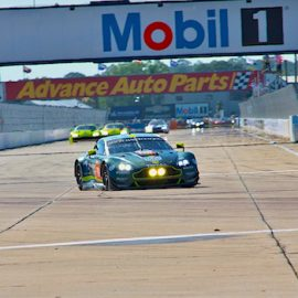 The Aston Martin #98 at the 1000 Miles of Sebring