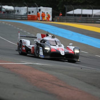 Le Mans: The #8 Toyota TS050 Hybrid at daybreak