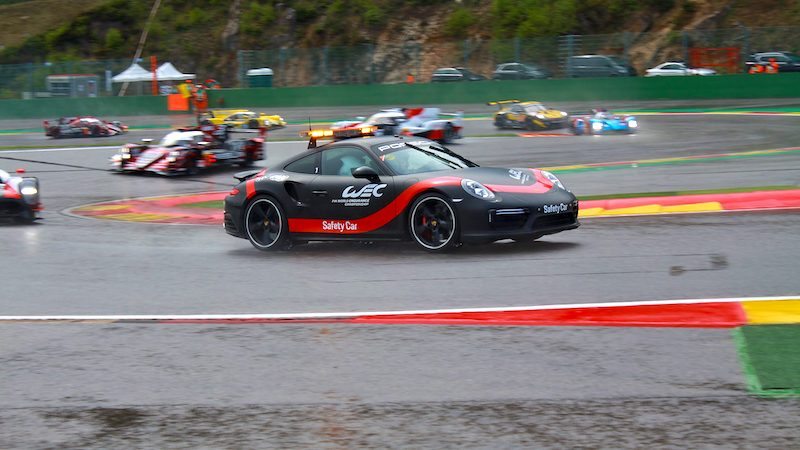 The Safety Car during a race
