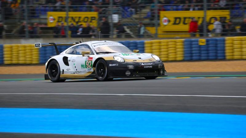 The Porsche #92 in Le Mans