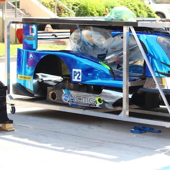 A WEC car during the transport