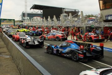 WEC cars in the pit