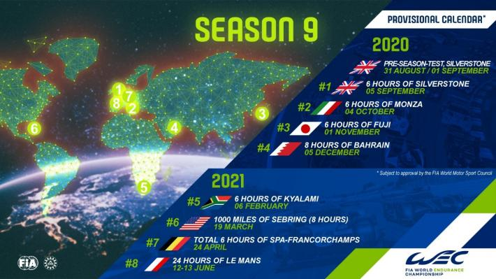 Calendrier Aco 2021 All new WEC calendar for 2020/2021   WEC Magazin