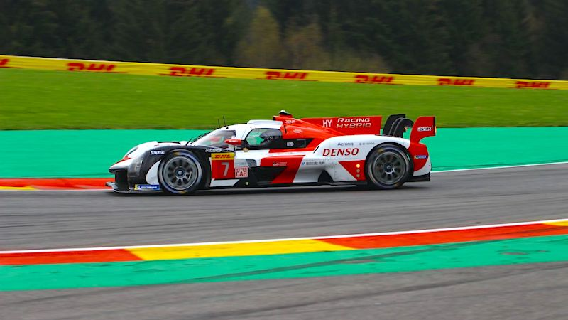 #7 Toyota GR010 Hybrid in qualifying for the 2021 6 Hours of Spa-Francorchamps
