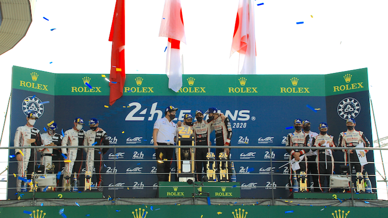 Overall podium at the 2020 24 Hours of Le Mans
