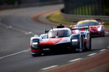 #7 Toyota GR010 Hybrid at the Circuit de la Sarthe, Le Mans