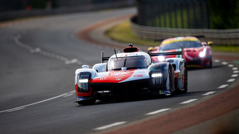 #7 Toyota GR010 Hybrid during Hyperpole at the Circuit de la Sarthe, Le Mans