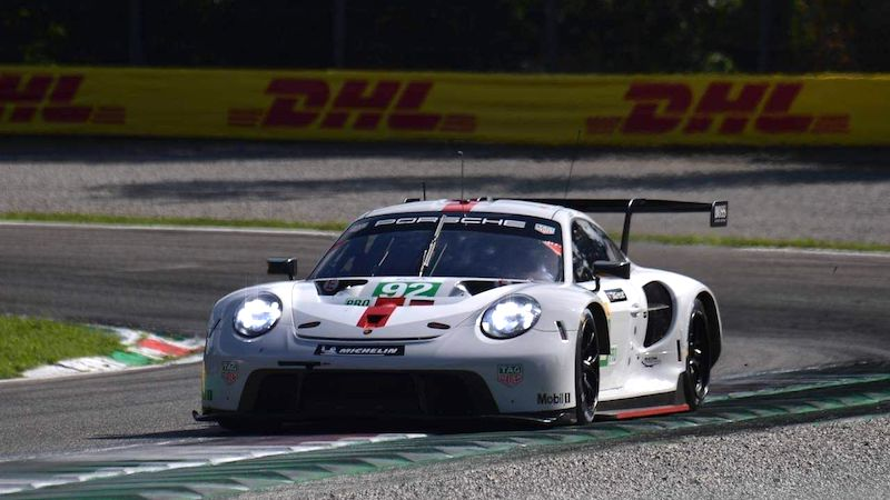 #92 Porsche 911 RSR-19 in qualifying for the 2021 Six Hours of Monza