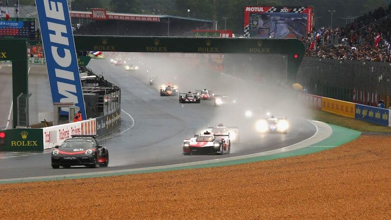 #7 Toyota GR010 Hybrid leads off the field at the 2021 24 Hours of Le Mans