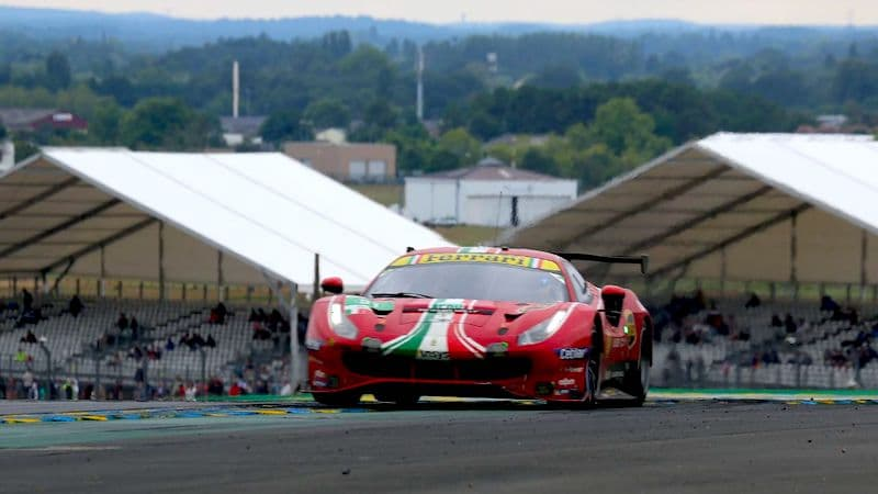 #51 AF Corse Ferrari at the 2021 24 Hours of Le Mans