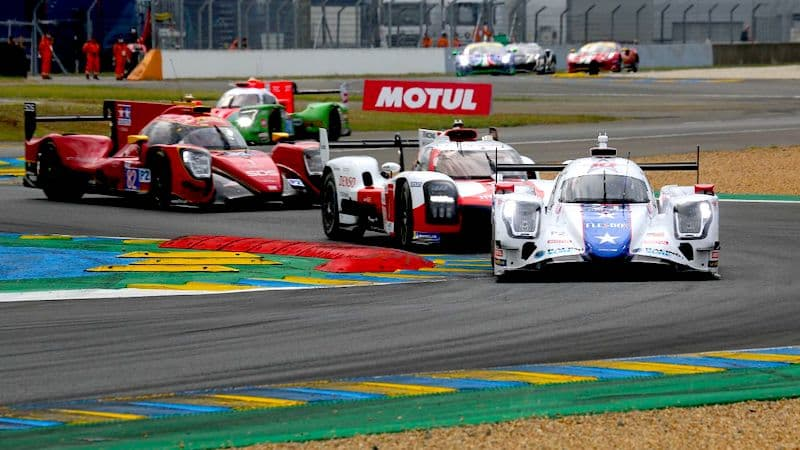 Group of cars at the 2021 24 Hours of Le Mans