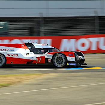 Toyota on pole at Le Mans but Rebellion bag front-row spot