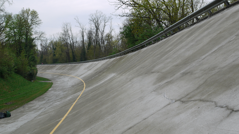 The old banking at the Autodromo Nazionale di Monza