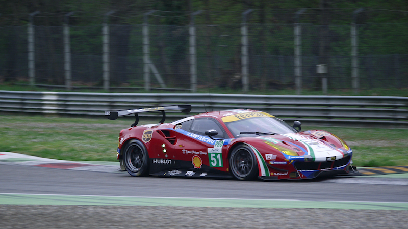 #51 AF Corse Ferrari at the WEC Prologue at Monza in 2017
